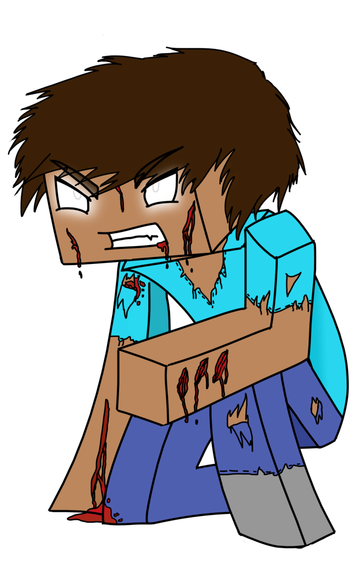 Herobrine drawing minecraft. Colored lineart by katanauser