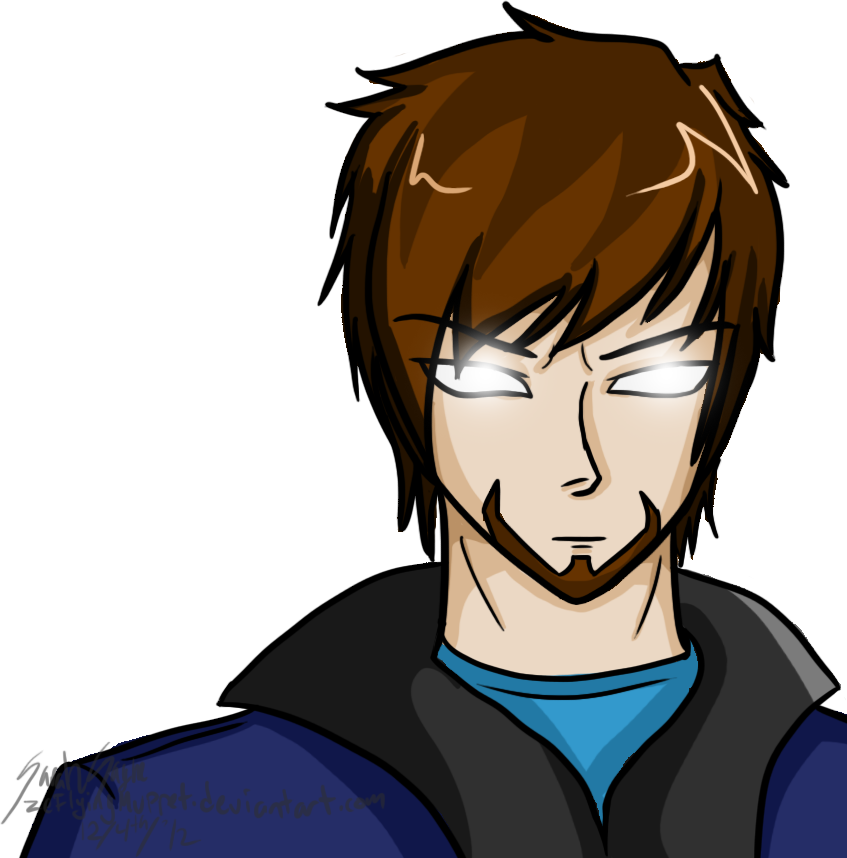Herobrine drawing. Last by zeflyingmuppet on