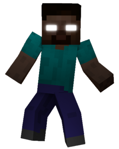 herobrine transparent fighting