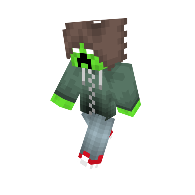 Herobrine transparent minecraft animation. Creeper teen with awesome