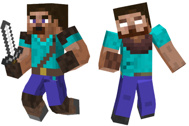 Herobrine transparent minecraft steve. And skins by sonicxjones