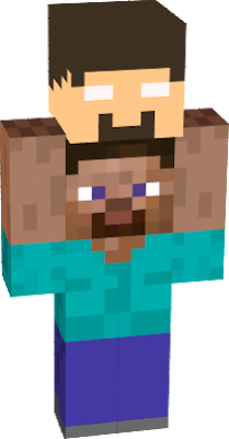 Herobrine transparent minecraft steve. Head nova skin gets