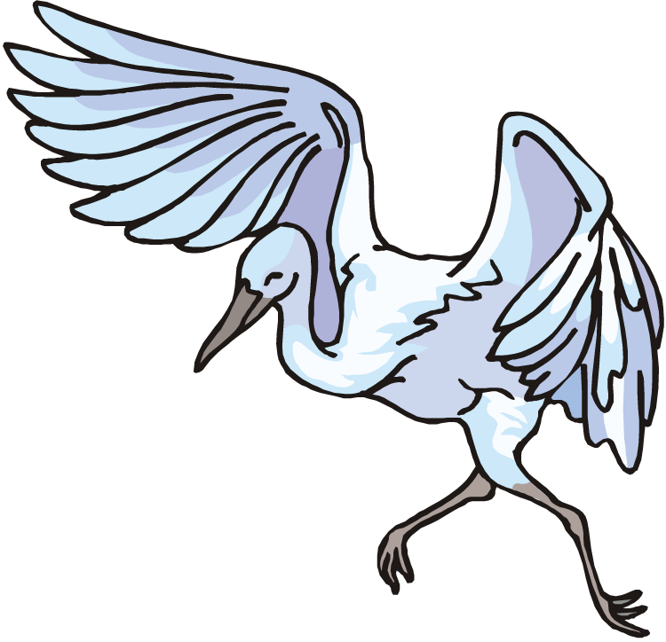 Heron vector great blue. Free clipart download clip