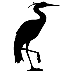 Heron vector stylized. Silhouette silhouettes pinterest printable