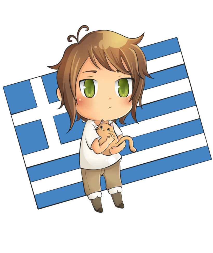 Hetalia clip greece. Chibi by akako san