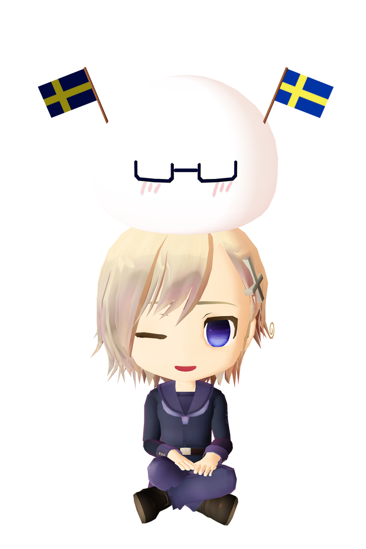 Hetalia clip norway. Chibi and mochi sweden