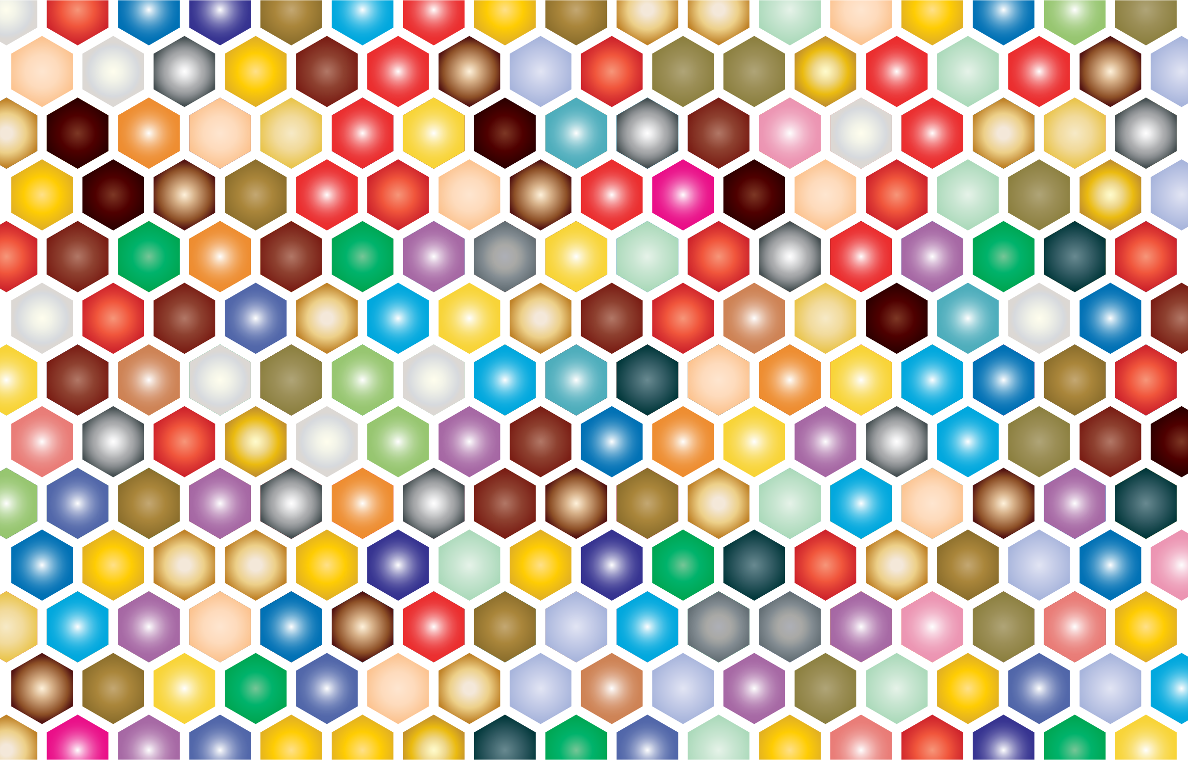 Hex grid png. Colorful pattern icons free