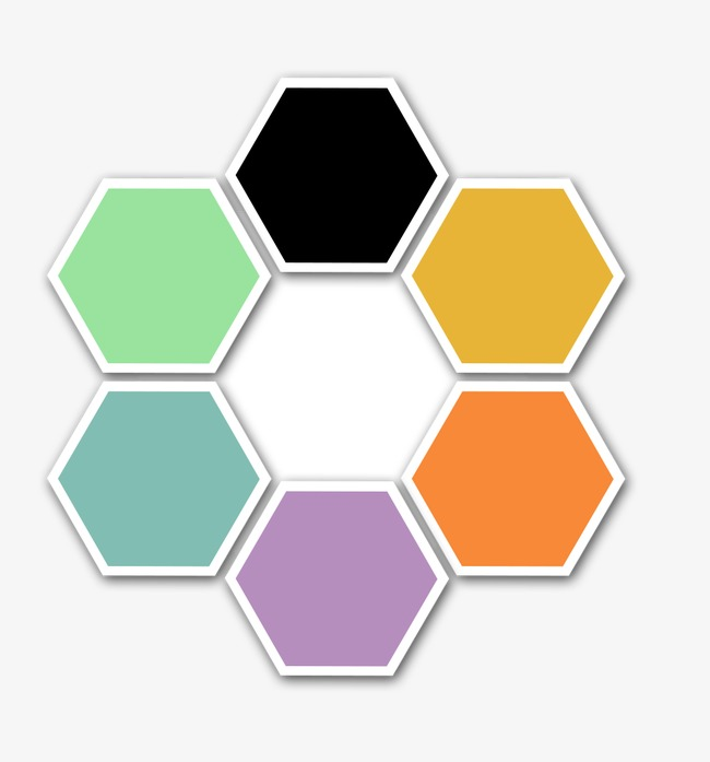 Hexagon clipart. Colorful honeycomb png image