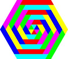 Hexagon clipart animated. Rainbow with clouds png