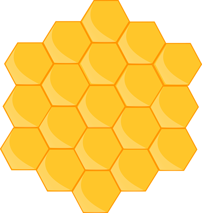 Hexagon clipart beehive. Clip art library yellow