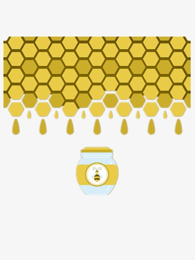Hexagon clipart beehive. Bee background yellow png