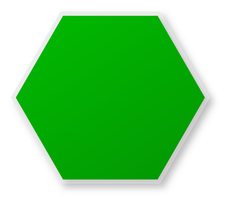 Hexagon clipart cool. Green