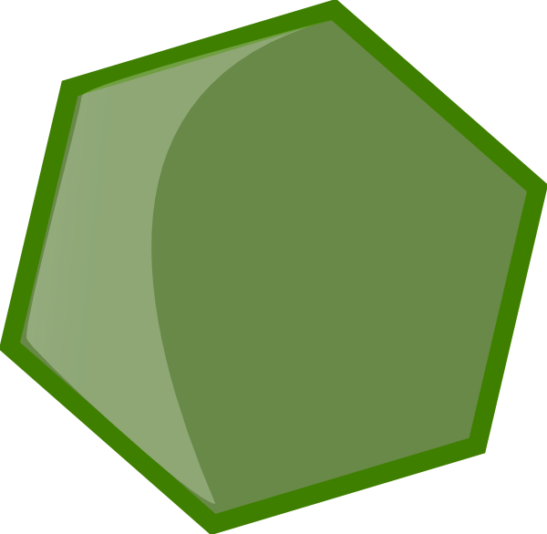 Hexagon clipart cool. Green clip art at