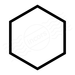 Hexagon clipart hexagon object. Iconexperience i collection shape