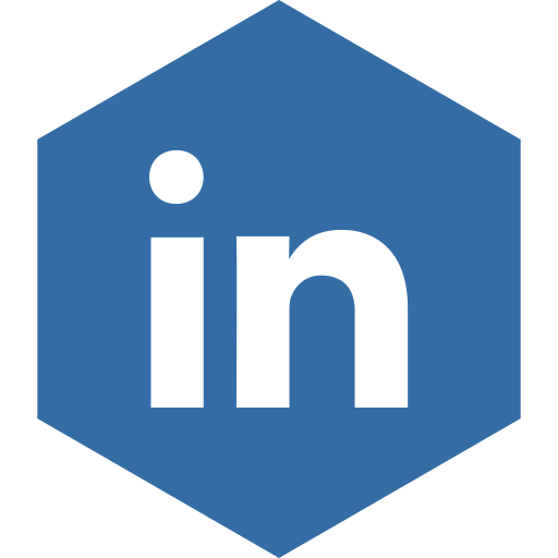 Hexagon clipart linked. Linkedin media social icon
