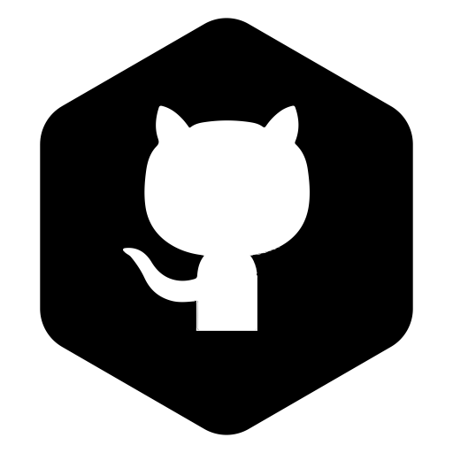 Hexagon clipart linked. Github icon logo symbol