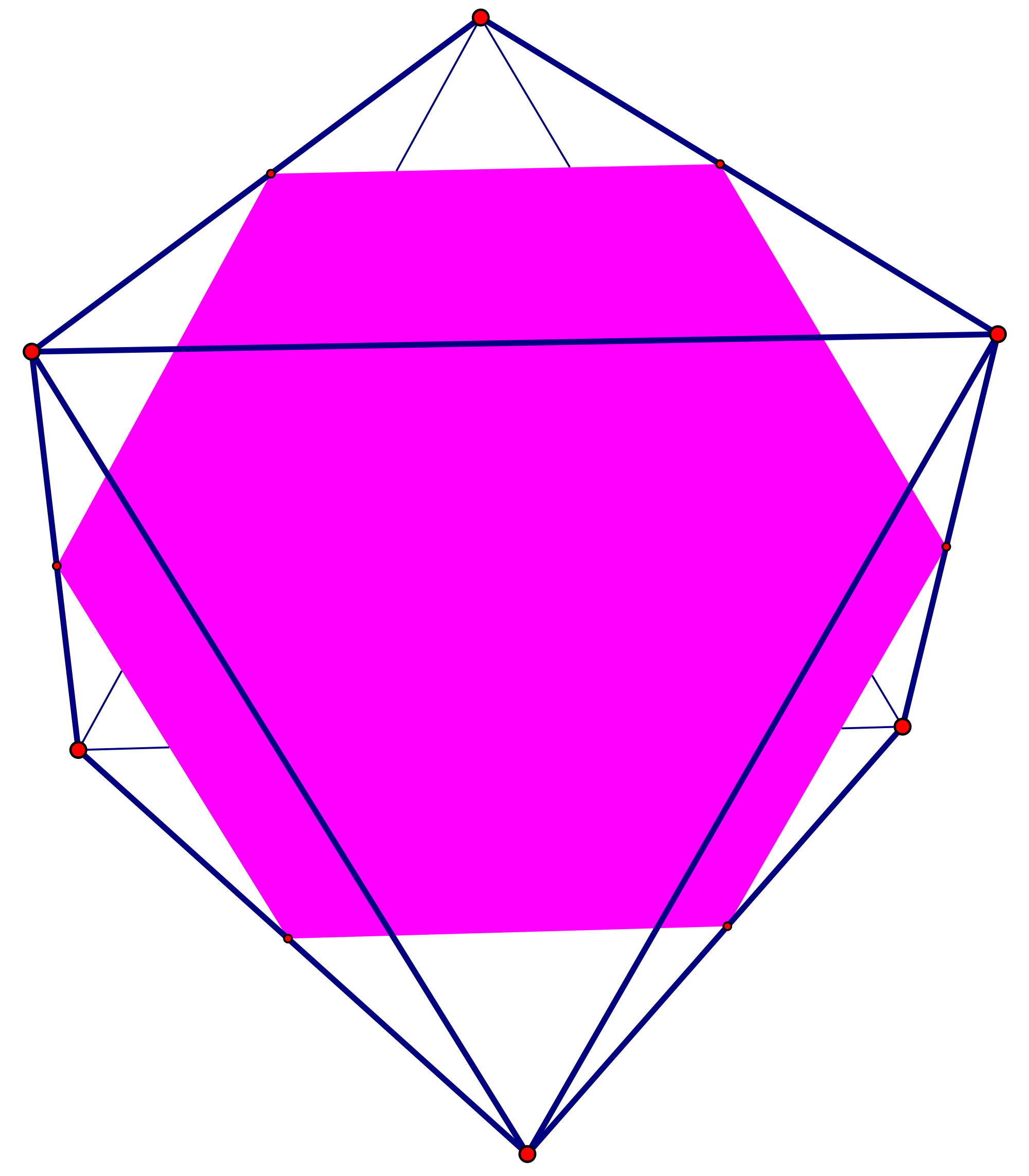 Hexagon clipart pink. File in octahedron svg