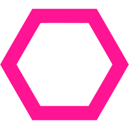 Hexagon clipart pink. Deep outline icon free