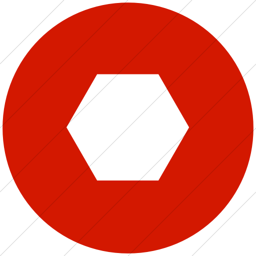 Hexagon clipart red. Iconsetc flat circle white