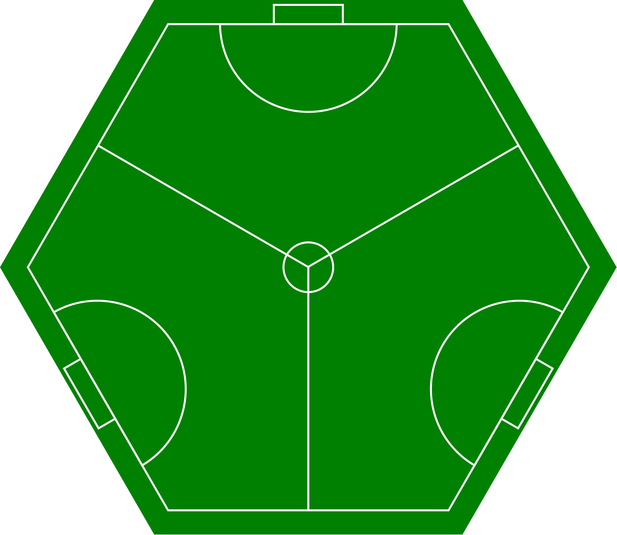 Hexagon clipart sided. File three football pitch