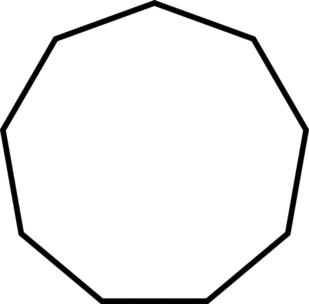 Hexagon clipart sided. Irregular concave etc entrancing