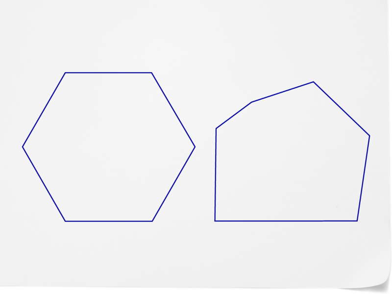 Hexagon clipart two pair congruent side. Polygons ck foundation these