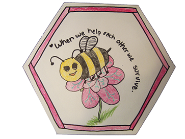 Hexagon drawing bee. Welcome to the project