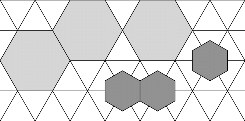 Hexagon drawing large. A typical configuration of