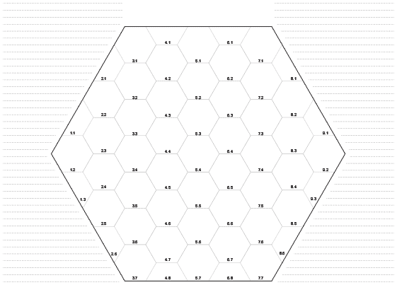 Hexagon drawing large. Mapping aids for roleplayers
