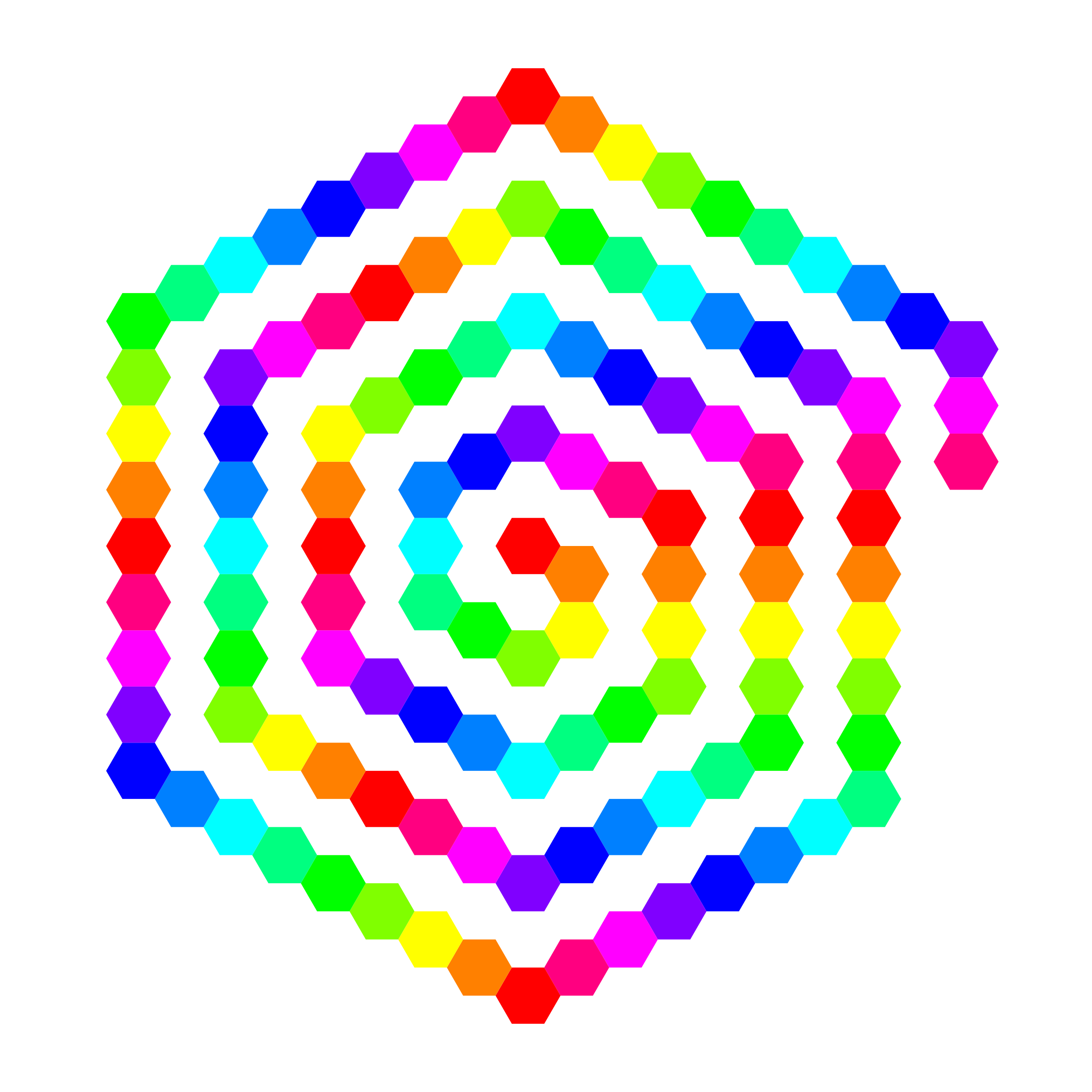 Hexagon drawing spiral. Icons png free