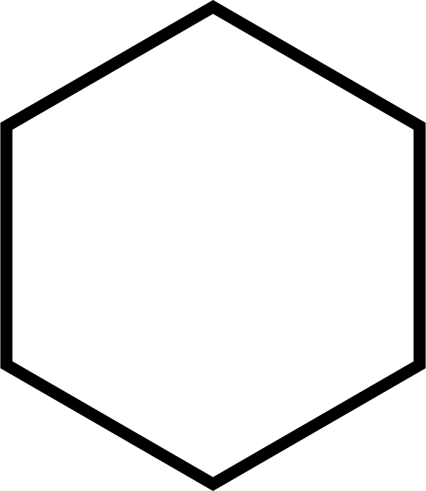 Png hexagon. Vertical outline svg icon