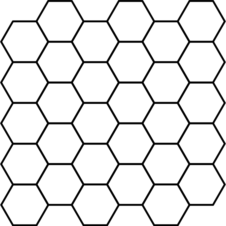 Fence svg chain. File hexagonal tiling wikimedia