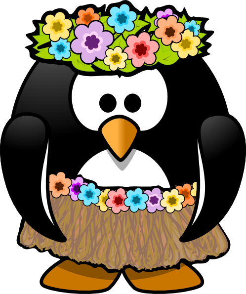 Hi clipart penguin dancing. Hawaiian clip art at