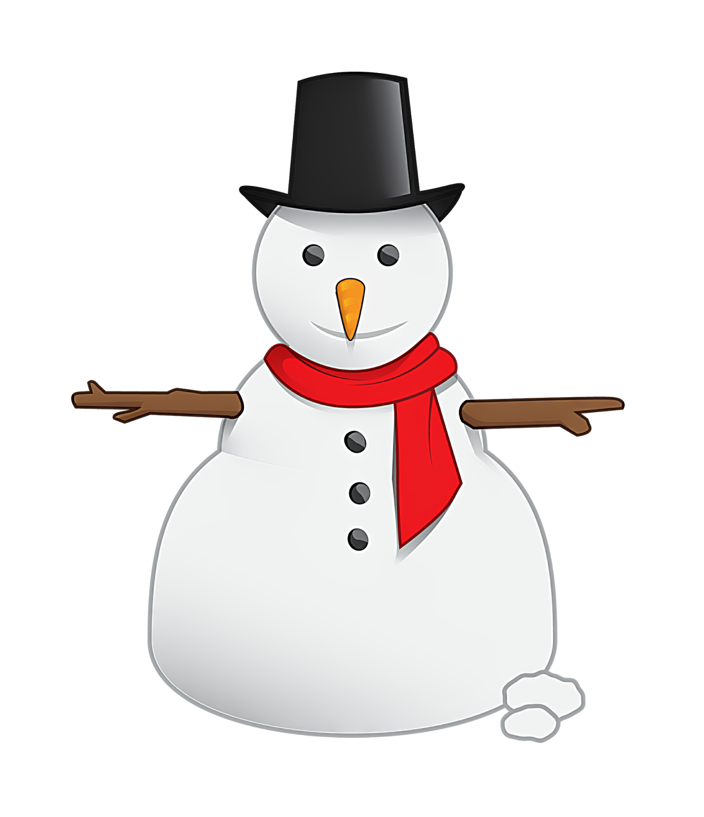 vector snowman background