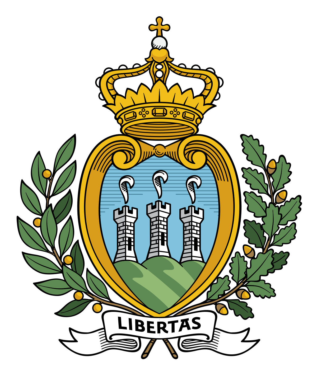 Hiatian coat of arms png. San marino wikipedia
