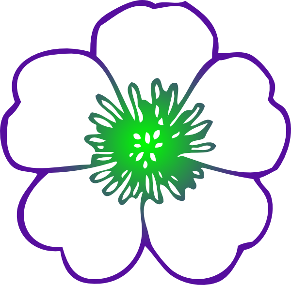 Blossom drawing apple. Purple hibiscus flower clip