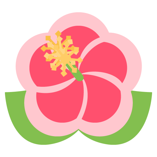 Hibiscus emoji png. For facebook email sms