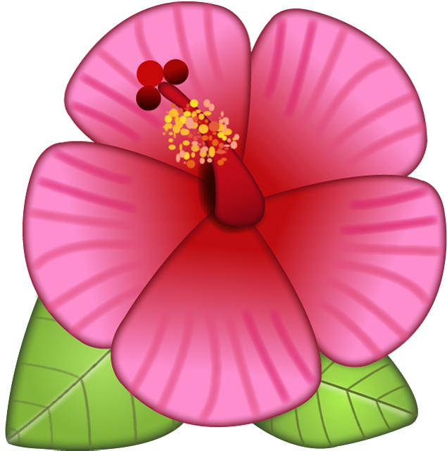 Download emoji image in. Hibiscus flower png picture free library