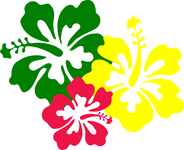 Hibiscus outline png. Flower clipart