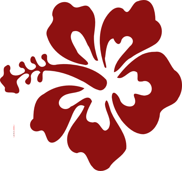 Hibiscus png vector. Flower red clip art