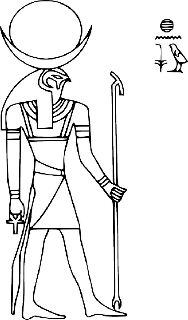 hieroglyphics drawing figure
