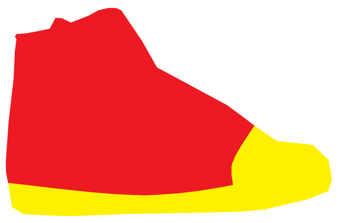 High clipart. Sneakers shoe top computer