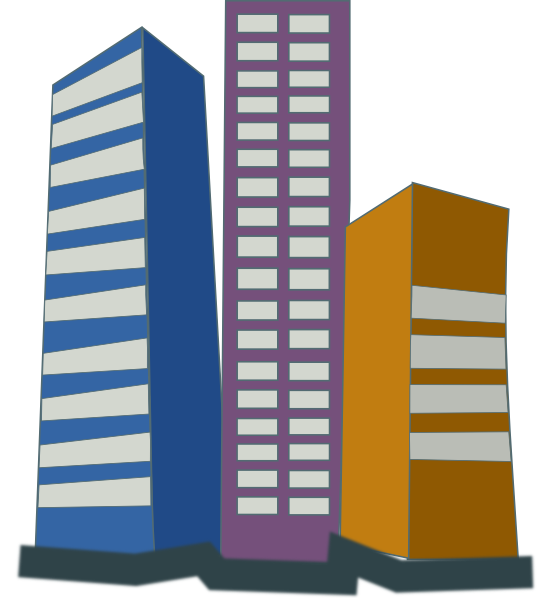 real estate clipart large building