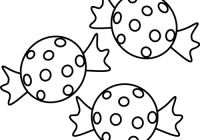 High clipart black and white. Candy collection of piece