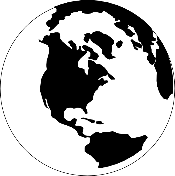 Earth clip high quality. Clipart black and white