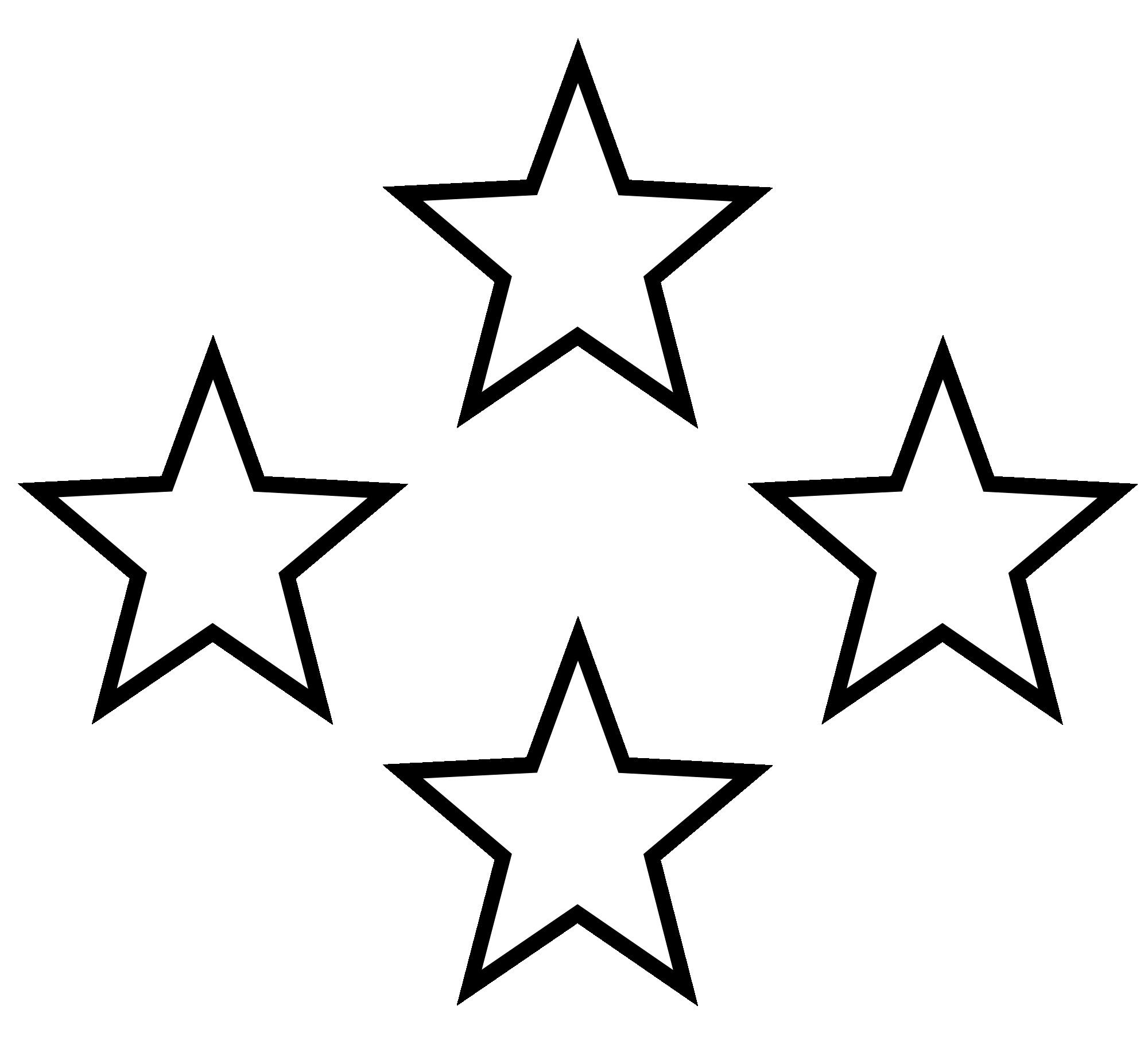 High clipart black and white. Collection of star