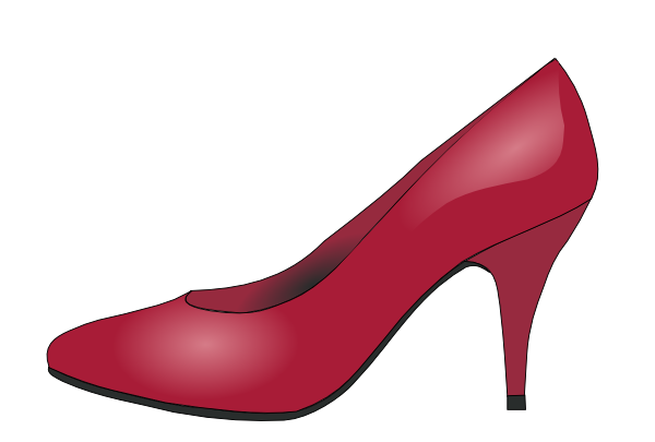 High clipart high heel shoe. Heels red clip art