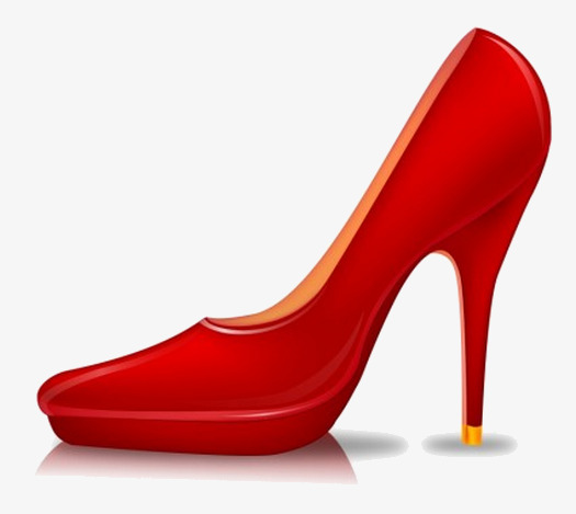 High clipart high heel shoe. A red heels heeled