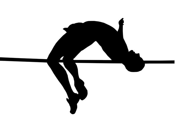 High clipart high jump. Long silhouette at getdrawings