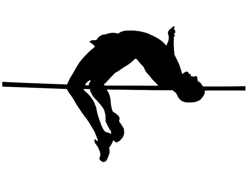 High clipart high jump. Png black and white